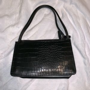 Handbags - *Vintage* Faux-Croc Dual-Pocket Handbag